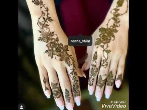 من اجمل نقش الحناء الخليجي Youtube Hand Henna Henna Hand Tattoo Henna