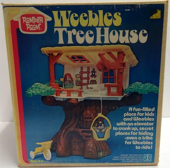House tree vintage weebles