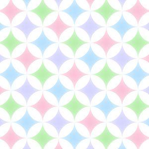パステルカラーの幾何学模様