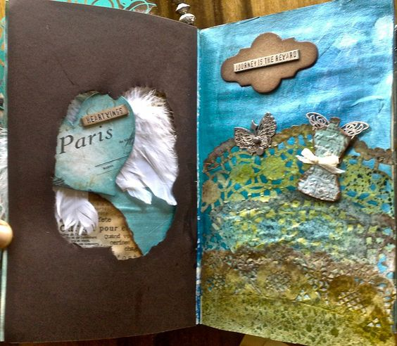 altered book - pages 31+32 by *carolion*, via Flickr