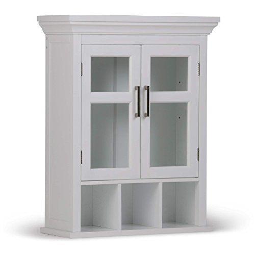 Modern Two Door Bathroom Wall Cabinet Brushed Nickel Handles Tempered Glass Door Wall Mounted Bathroom Cabinets Bathroom Wall Cabinets Wall Mounted Cabinet
