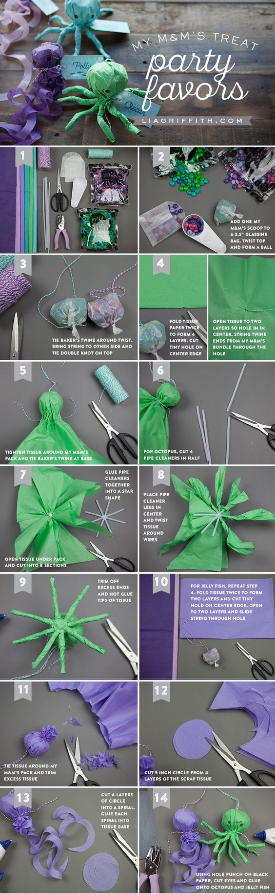 M&M Octopus Party Favor tutorial from MichaelsMakers  Lia Griffith