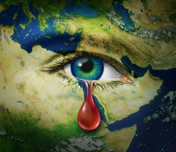 planeta llorando
