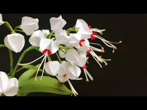 Abc Tv How To Make Bleeding Heart Vine Paper Flower With Shape Punch Craft Tutorial Youtube Paper Flowers Handmade Flowers Paper Bleeding Heart