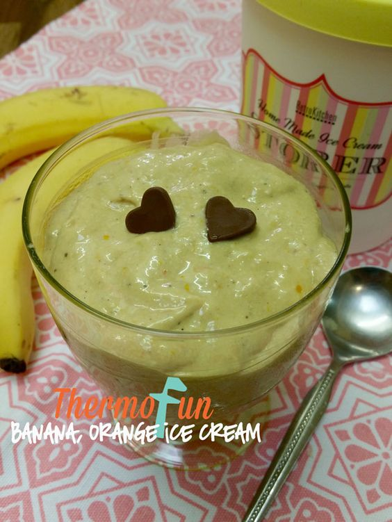"""KIDtastic Friday - Banana & Orange Ice Cream - Soft Serve ideal for those """"treats"""" after school or dinner."""