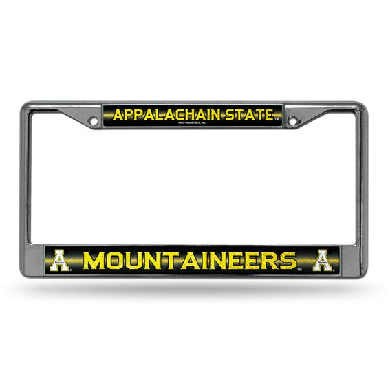 Appalachian State Mountaineers NCAA Bling Glitter Chrome License Plate Frame