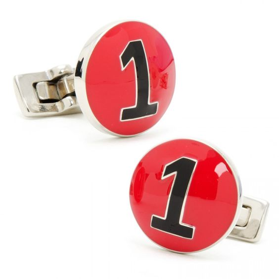 Red and Black Italian Racer Cufflinks