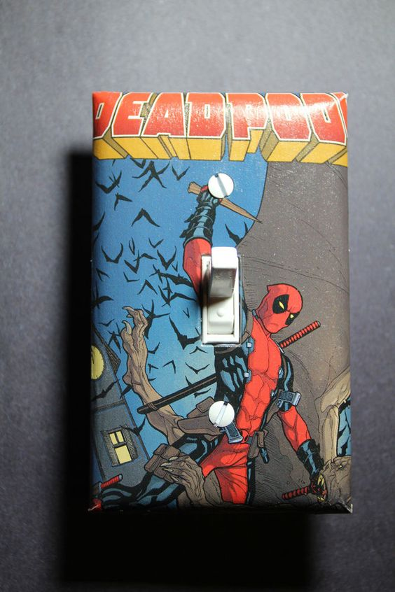 Deadpool Light Switch Cover Plate DC Comic Book Superhero