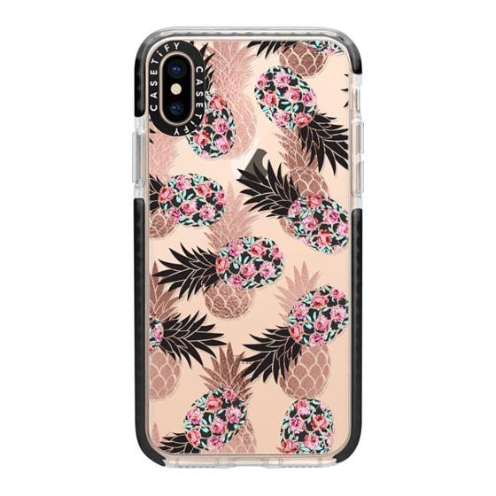 Watercolor Crystals // Black iPhone 11 case