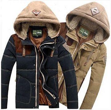 hommes, doudoune manteau d hiver occasionnels en plein air