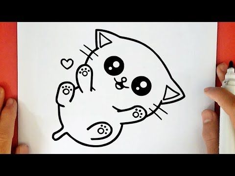 How To Draw A Cute Baby Kitten Youtube In 2020 Simple Cat Drawing Kawaii Cat Drawing Cute Dog Drawing
