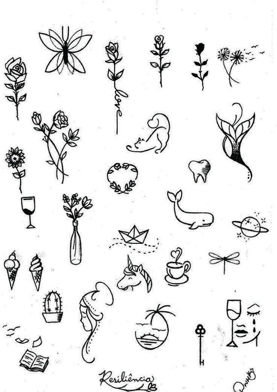Tattoo Ideas And Sketches Minimalist Drawing Tattoos Small Tattoos