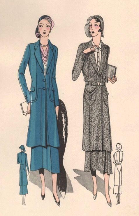 Pin By 1930s 1940s Women S Fashion On 1930s Ensembles Coats Illustration Fashion Design Vintage Fashion 1930s 1930s Fashion