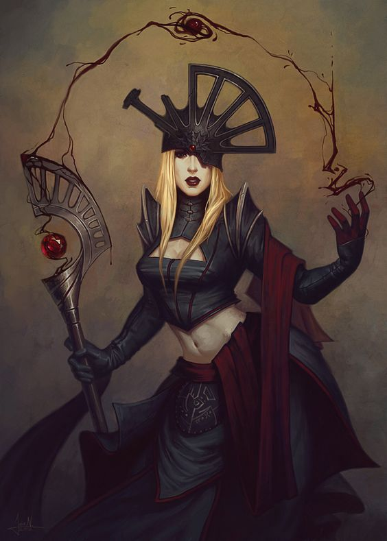 Lady Sanguine Picture  (2d, fantasy, lady, priestess, sorceress):