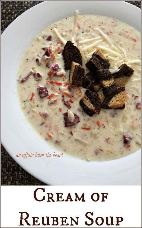 Cream of Reuben Soup - If you love Reubens, you are sure to love this ...