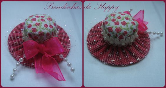 Mini Chapéu tons rosa