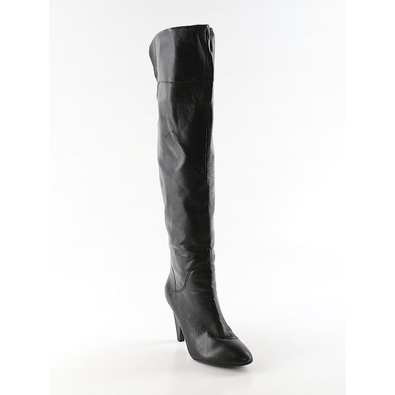 Pre-owned Guess Boots Size 5 1/2: Black Women's Shoes ($34) ❤ liked on Polyvore featuring shoes, boots, black, kohl shoes, black boots, kohl boots, guess? boots and guess shoes
