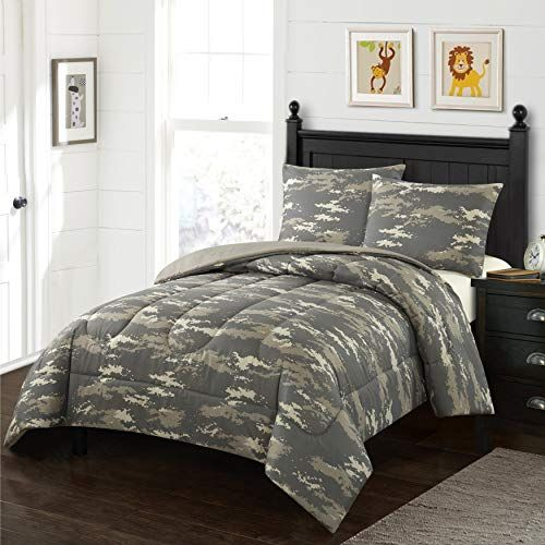 Home Style Camouflage Kids Comforter Set Twin Size Green Brown Camo Military Print 2 Piece Bed Sets Arm Kids Comforter Sets Kids Comforters House Styles
