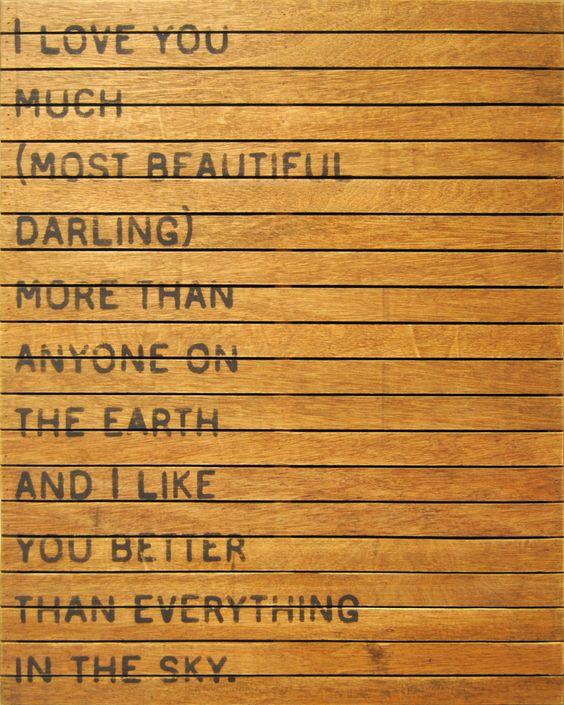 So I love you.