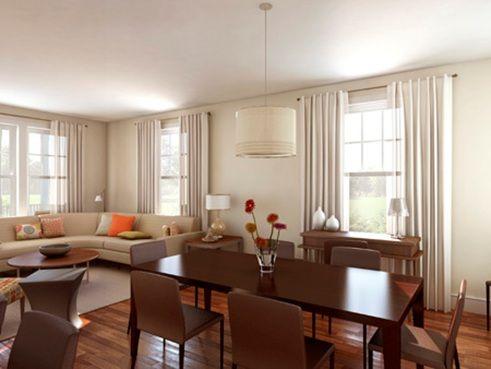 Fotos de sala y comedor juntos salas pinterest for Tende casa minimalista