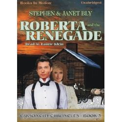 Click pin to get Roberta & The Renegade by Stephen & Janet Bly (Carson City Chronicles Series). Cozy mystery. Outlaw Manitoba Joe caught, but he begs Judge Kingston to find out who framed him. At home, life seems to unravel for the judge & his wife Judith. Will their widowed missionary son marry a most unlikely woman & return to India? Can evidence their daughter's fiance is an embezzler & father of an illegitimate child be true? Read by Laurie Klein. App. 8 hrs. CD/MP3 download. $9.99