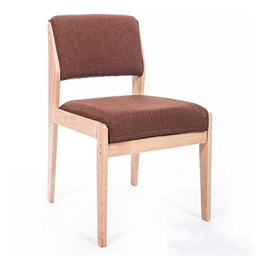 Washable Cafe Lounge Chair Solid Wood Dining Chair Modern Simple
