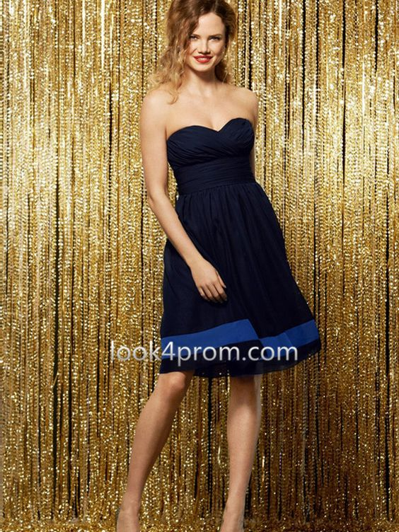 A-line Sweetheart Ruffles Prom Dress, Bridesmaid Dress