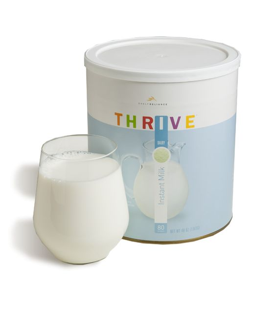 """What do you run out of the most often? For us it's Milk, and let me tell you this is NOT your Mother's powered milk. THRIVE Instant Milk powder dissolves instantly in water at any temperature, it is made from 100% milk It simply doesn't taste like powdered milk. It tastes (get ready for this), like MILK!! - NO MORE """"we're out of milk??!"""" moments for us! #FoodStorage #ThriveLife #HomeStore #EmergencyPreparedness"""