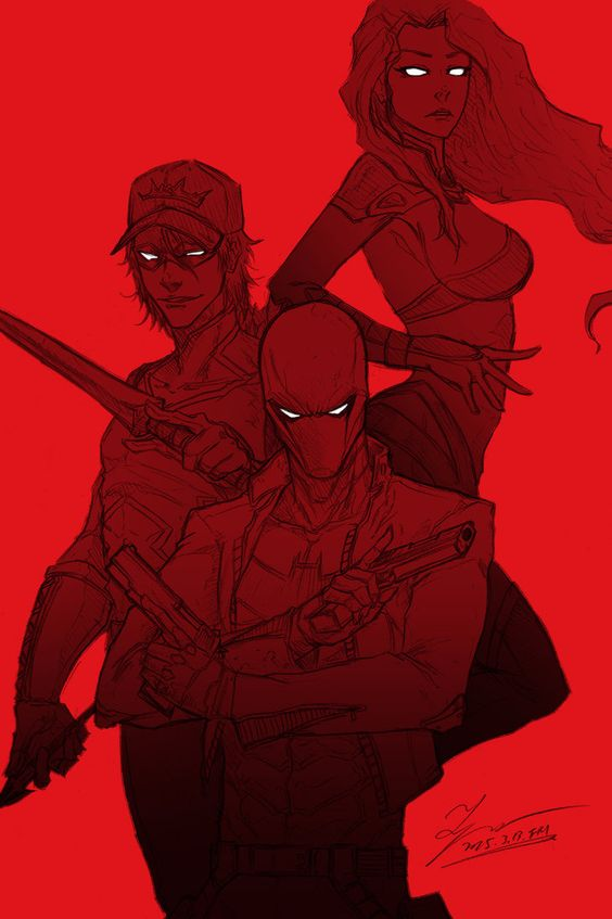 Sketch - Red hood and the OUTLAWS by tryvor on DeviantArt