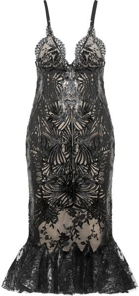 Alexander Mcqueen Lasercut Patentleather and Lace Dress.  Oh I Like This One