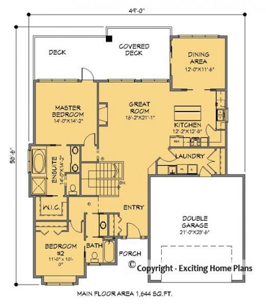 Bergamo Bungalow Plan Front View House Plans Floor Plans How To Plan