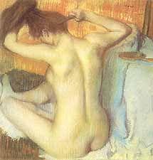 """Rezultat slika za Edgar Degas, """"Femme se peignant 1885"""