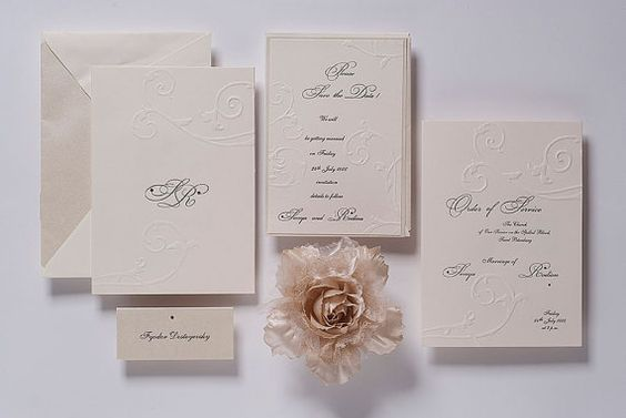 Great Wedding Invites: Popular Wedding Invitation Blog: Luxury Embossed Wedding