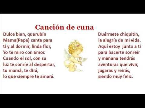 Letra De Nana Canción De Cuna Y Musica De Brahms Youtube Canciones De Nanas Canciones De Cuna Canciones