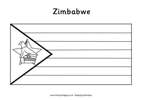 zimbabwe flag colouring page