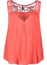 Pinkish Orange Naf Naf Naf Naf Blouse,