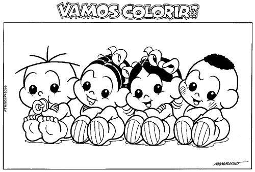 128 Desenhos Da Turma Da Monica Para Colorir Com Imagens