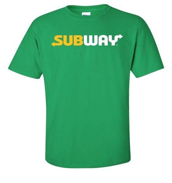 Subway Employee Uniform Sandwich Crew T Shirt Green Large//Unisex L Genuine NEW