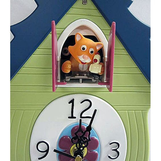 Meow Coo Cat Clock Not Your Everyday Coo Coo Clocks Pinterest Cats Cat Clock And Clock
