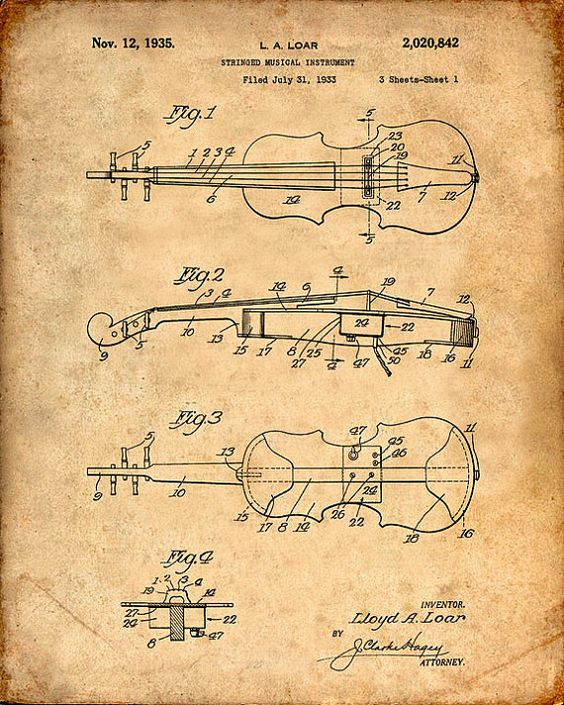 Hey, I found this really awesome Etsy listing at https://www.etsy.com/listing/199424302/patent-print-of-a-violin-patent-art