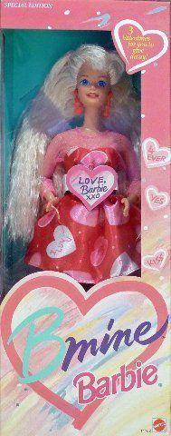 BARBIE BMINE VALENTINE DOLL, SPECIAL EDITION, 1993 EDITION, #11182, NRFB. Barbie BMine Valentine Special Doll.