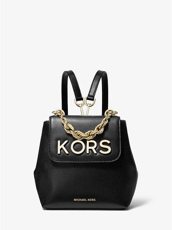 Michael Kors Mott Extra Small Kors Embellished Leather Backpack Today S Fashion Item Handbags Michael Kors Black Rucksack Leather Backpack