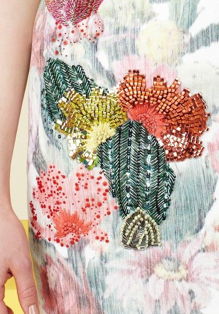 Embroidery over print: