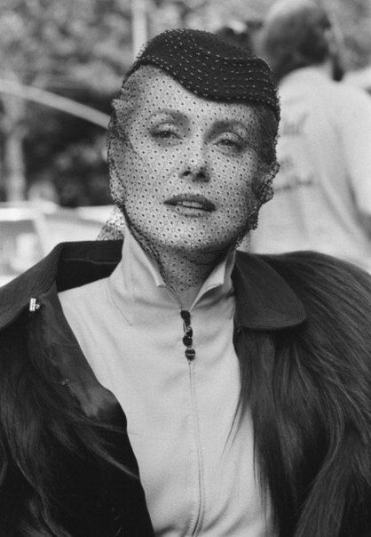 Catherine Deneuve on the set of The Hunger.: