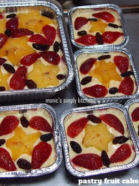 Pastry Fruit Cake Batter Pastry Kue Buah Ide Makanan