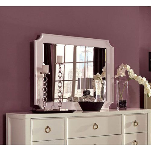 Furiani White Mirror Donny Osmond Home Rectangle Mirrors Home Decor