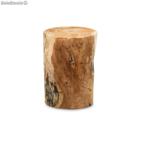 Taburete tronco madera block cilindro