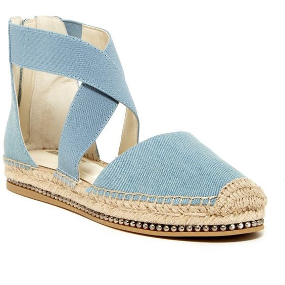 BCBGeneration Farley Espadrille Flatform ($60) ❤ liked on Polyvore featuring shoes, sandals, bcbgeneration sandals, leather espadrilles, elastic sandals, woven elastic shoes and braided sandals