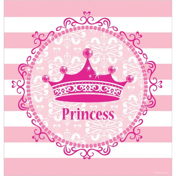 48 x 88 Plastic Tablecover Pink Princess Royalty/Case of 12