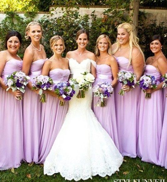 Wedding Gown For Parents: Lavender Bridesmaid Dresses ... Wedding Ideas For Brides